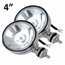 "2 x CHROME 4"" WHITE ANGEL EYE HALOGEN CAR SPOTLIGHT FOG SPOT LIGHTS FOGLIGHTS"