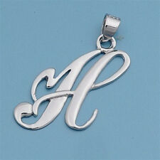 USA Seller Initial Pendant Sterling Silver 925 Best Deal Plain Jewelry Letter H