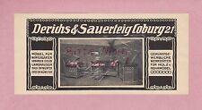 COBURG, Werbung 1913, Derichs & Sauerteig Möbel Wintergarten Holz-Rohr-Möbel