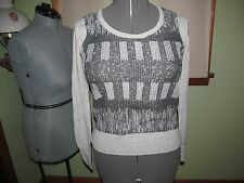 Women's Simply Vera Vera Wang Gray Long Sleeve Top Size PS NWOT NICE