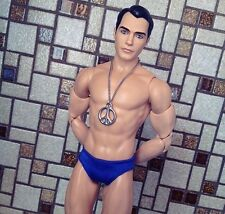 Sexy Male Model Barbie Collectors Black Label Ken Doll Muscles Abs Gay Int.