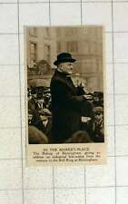 1920 Bishop Of Birmingham Addressing Workers Marketplace Bullring Birmingham