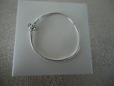"Authentic Pandora Iconic Silver Charm Bracelet 18cm 7.1 "" Hinged Box 590702HV-18"