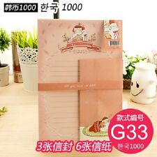 korean paper letter set girl kawaii