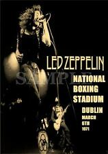 Led Zeppelin concert poster National Boxing Stadium Dublin Ireland 1971 repro