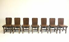 7 Vintage Handmade Solid Wood Mid Century Danish Chair Office Atomic Dining Bar