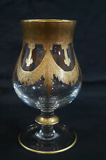 "Magnum 7 5/8"" Arte Italica Medici Gold Encrusted Brandy Glass"
