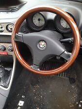 ALFA ROMEO 156 147  WOODEN WOOD STEERING WHEEL 1997-2006  including airbag.
