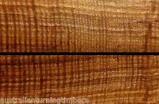 Fiddleback Australian Spotted Gum Knife Scales / Handles (Bookmatched)