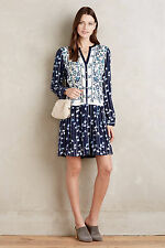 $148 ANTHROPOLOGIE Embroidered  Semele By Tiny Shirt Dress Size S 4 6  NEW