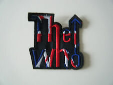 THE WHO PATCH Embroidered Iron On Band Badge Logo Union Jack NEW
