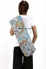 Turquoise Women Bag Indian Handmade Yoga Bag Kantha Work Hobo Bag Paisley Cotton