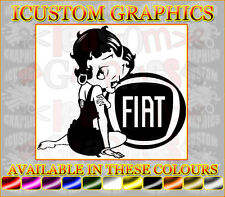 Betty Boop fiat girls vinyl car sticker fun decal graphics punto panda abarth
