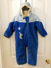 COLUMBIA Hooded WINTER SNOWSUIT blue outerwear 24 Mo boy #317