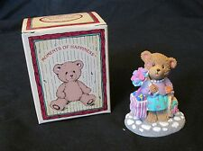 New Russ Berrie Moments of Happiness The Joy of Shopping Teddy Bear Figurine
