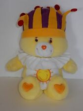 "Play Along 2004 Singing Care Bear 15"" King Funshine Bear Plush"
