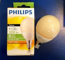 PHILIPS ENERGY Softone FLAME  Sparlampe in Tropfenform E14 8W