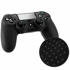 ETUI COQUE SILICONE POUR MANETTE SONY PS4 DUALSHOCK 4 GRIP EXTRA NOIRE