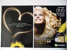 PUBLICITE-ADVERTISING :  GARNIER Olia [2pages] 2014 Coiffure