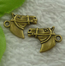 Free Ship 200 pieces bronze plated horse charms 21x18mm #2261