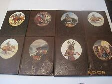 """Set of 8 Time Life Books """"The Old West"""" Embossed Leather Cover Pioneers jk139"""