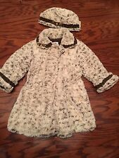 CORKY & CO COMPANY GORGEOUS GILR'S BEIGE COAT/HAT SET Size 5 MSRP $152