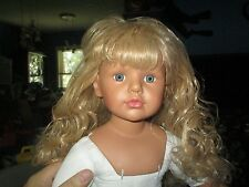 "RF Collection Künstlerpuppe Vinyl Doll 28"" Blonde Blue  188 / 999 needs work"
