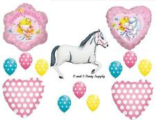 PRINCESS AND WHITE HORSE HAPPY BIRTHDAY PARTY BALLOONS Decorations Supplies Girl