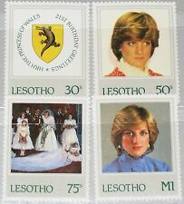 LESOTHO 1982 393-96 372-75 Princess Diana 21st Birthday Coat of Arms Wappen MNH
