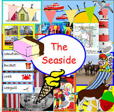 SEASIDE TOPIC TEACHING RESOURCE KS1 EYFS SUMMER  HOLIDAYS WEATHER Teacher on CD