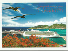 Amsterdam & Freedom of the Seas... Cruise ships..pc   docked in St. Maarten