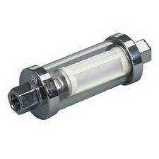 "Moeller Universal Inline Glass View Fuel Filter 3/8"", 5/16"", & 1/4"" Barb In Kit"