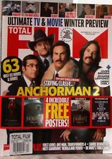 TOTAL FILM Magazine #213  + 4 Free POSTERS Anchorman 2 HUNGER GAMES $10 UK Dec13