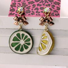 NEW Fashion Betsey Johnson Women Cartoon Lemon Crystal Gem Alloy Earring BJEA069