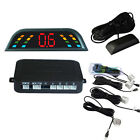 Car LED 4 Parking Sensors Auto Reverse Backup Radar System Kit Sound Alert Alarm