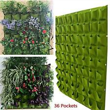 Eco-friendly Planting Bags Pratical Green Garden Hanging Plant Bag 36 Pockets AD