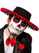 Adult Mens Ladies Mexican Spanish Senor Day Of The Dead Fancy Dress Hat New