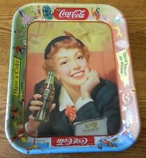 """Vintage 1950's Coca-Cola original serving tip tray """"Thirst knows no season"""" B"""