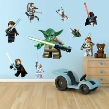 Lego Star Wars Yoda Vader Wall Sticker Removable Vinyl Decal Art Boy Kid Decor