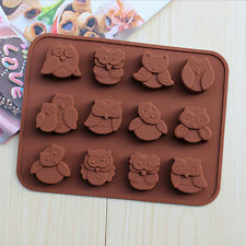 Silicone Owl Cake Decorating Mould Candy Cookies Chocolate Soap Baking Tool TBUS