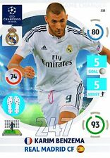 ADRENALYN CL 2014/15 # 247  GAME CHANGER BENZEMA REAL MADRID MINT PERFECT!!!
