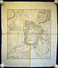 MONS / BERGEN HAINAUT - schöner Stadtplan von 1736 - Original!