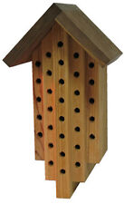 """Diamond"" Shaped Mason Bee House: Orchard & Solitary Bees Nest in this Habitat"