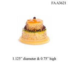 TWO TIER CAKE 1:12 Scale Dollhouse Miniatures Dessert Kitchen Party
