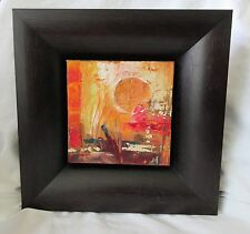 """Abstract Oil Painting by Bruce Marion 6"""" x 6"""" w/ Frame"""
