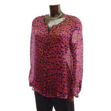 Lujo Escada Couture noche blusa blouse leo Pink rojo 36/38 seda boda flora