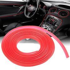 4.6M 15FT Red Car Door Moulding Stripe Trim Guard Edge Protection Strip Decor