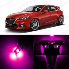 10 x Pink LED Interior Light Package For Mazda 3 Mazdaspeed 3 2004 - 2009