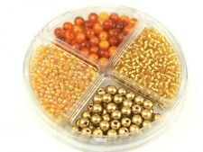 Hobby & Crafting Fun Bead Kit Seed Beads & Pearls  Gold & Copper ...