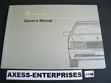 92 1992 Mercedes W140 S 300 SE 400 SE 500 SEL Owners Manual Drivers Book # J148
